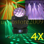 4X New Christmas dj lights 12X10W CREE 4in1 RGBW LED Beam moving flower lighting