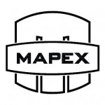 "Mapex Drums Saturn Mars logo 4.6"" X 4.125"" Black logo sticker for bass drumhead"