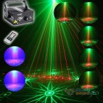 SUNY 3 Lens 40 Patterns RG Laser Light Projector Stage Lighting Party DJ Disco