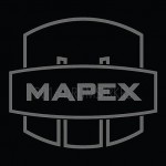 "Mapex Drums Saturn Mars logo 4.6"" X 4.125"" Gray logo sticker for bass drumhead"