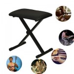 Black Adjustable Piano Bench Piano Keyboard Chair Padded Seat Rubber Feet Steel