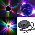 Flying Saucer LED RGB Light Auto Sunflower Rotating Party Stage Club Disco Lamp
