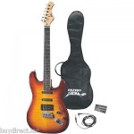 "BRAND NEW PYLE PROFESSIONAL 42"" DELUXE SUNBURST FINISH ELECTRIC GUITAR PACKAGE"