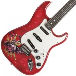 Fender Lozeau Red Sacred Heart Stratocaster