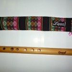 EXCLUSIVE LUPACA NATURAL  BAMBOO WITH RED BLOOD WOOD MOUTHPIECE FROM PERU
