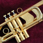 "Professional Dotted gold C key Trumpet Germany brass Horn 4-7/8"" with case"
