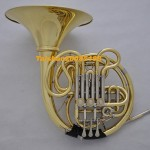 Professional Gold Double French horn F/Bb key cupronicekl tuning pipe with Case