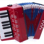 D'Luca Kids Piano Accordion 17 Keys 8 Bass Red, G104-RD