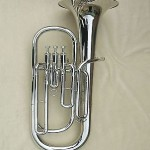 Nickel plated Baritone Horn Kit Bb Key