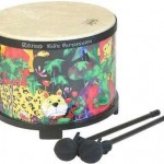 "Remo 10"" x 7.5"" Floor Tom Drum Percussion Kids Childrens w/ Mallet Rain Forest"
