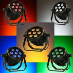 NEW 7 X 15 Watt RGBAW 5 in 1 LEDs waterproof PAR 64 IP65 rated dj lighting