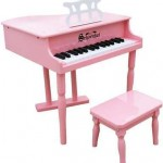 Schoenhut Classic 30 Key Baby Grand Piano Kids Child Bench Music Learning Pink