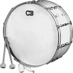 "CB Percussion Parade Series 10"" x 26"" Scotch White Marching Bass Drum - IS3650W"