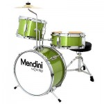 "Mendini 3-Pieces 13"" Junior Child Kids Jr. Drum Set Kit ~Metallic Green"