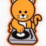 AWESOME CAT SCRATCH STICKER/Auto DECAL great for DJ