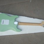 New high quality Light green 6 string ST Electric Guitar guitarra