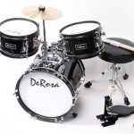 """3 PC 12"""" Black Starter Drum Set Kid Music Class Band Perfect Gift for 2-5yr olds"""