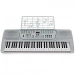 New Silver 61 Key Electronic Music Keyboard Electric Piano Organ LCD Lightweight