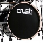 "Crush Chameleon Birch 24"" Diameter X 18"" Deep Bass Drum/Black Wrap/NEW"