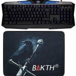 BAKTH Unique Luminous Blue Backlit Mechanical Gaming Keyboard Plus