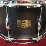 "PORK PIE ""HIP PIG"" RARE BLACK SATIN FINISH 13X7 Snare Drum BEAVERTAIL LUGS NEW!"