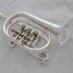 Professional new silver rotary valve cornet horn Bb key with case