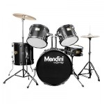 Mendini 5 Pieces Adult Complete Drum Set ~Blue Black Green Red Silver White