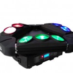 2pc/lot  3x3  RGBW  LED Sweep beam bar spider beam Moving head effect kaos Light