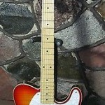 Jay Turser / JT-LT-CUSTOM DLX / Tele Style / Flamed Top / Cherry Sunburst / NOS