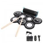 Portable Digital Electronic Tabletop Roll up Drum Kit Standard Drum+Guitar Pick