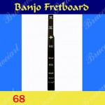 Banjo Part - Left hand Fretboard w/Mop Art Inlay ( G-68)
