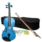 New 15 Inch Blue Color Basswood Acoustic Viola with Case Rosin Bow