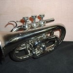 POCKET TRUMPET CHROME FINISH,Bb NICE)PITCH PROFFESIONAL W/HARDCASE