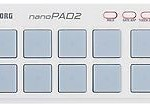 New KORG nanoPAD2 Slim-Line USB Pad Controller White Japan