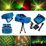 Mini Moving Projector Dj Disco Club Light Red Green Laser Stage Lighting Effects