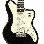 Italia Imola 6 Electric Guitar Black Electric Guitar with Unique Pickups!