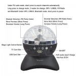 Stage Lights, Rotating Magic Effect Disco Ball Light With Wireless Bluetooth Spe
