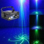 New  20Gobos Green-Blue LED Laser Projector Stage LightingDJ Bar Party lamp SUNY