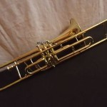 TROMBONE VALVE FOR SALE Bb PITCH/.PROFFESIONAL!BRASS!FINISH CASE+MP TRUMBONE