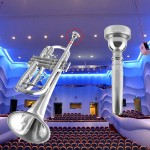 Trumpet Mouthpiece for Bach 3C Size Silver Plated Musical Instrument New KN