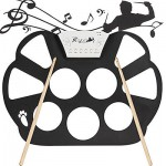 Portable Electronic Roll up Drum Pad Kit Silicon Foldable Record with Stick
