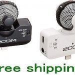 ZOOM iQ5 White MS Stereo Microphone connector for iPhone  EMS F/S NEW!