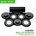 Electronic Roll Up Drum Kit Pad Digital Stick Musical Instrument Portable New