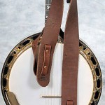 "LAKOTA LEATHERS BUFFALO Leather CRADLE Banjo strap SOFT 2"" Chocolate"