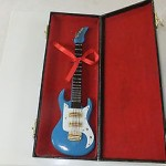 Minature Musical Instruments - Electric Blue Guitar with Case - NEW mini GUITAR