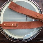 "LAKOTA LEATHERS BUFFALO CRADLE BANJO STRAP LAKOTA SOFT Tobacco 3"" WIDE"