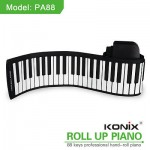 88 Keys MIDI Roll up Electronic Piano 140 Tone Piano Keyboard PA88 F PC Computer