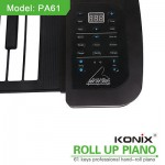 Electric Piano Keyboard Soft 61 Keys Portable Roll up Digital Music 128 Tone New