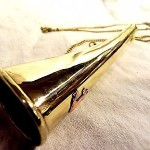 NEW BRASS  HUNTER BUGLE TRUMPET WITH CHAIN